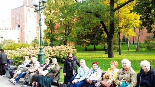 Отдых перед посещением Кремля.